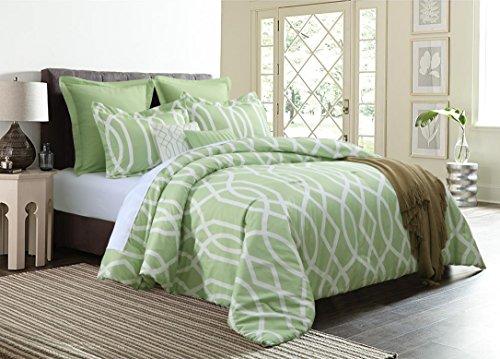 (Empire Home Anbu Modern 7 Piece Comforter Set - NEW ARRIVAL (Queen Size,)