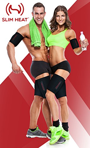Slim Heat Body Wraps for Arms and Thighs (4-Piece Set) - Contouring Weight Loss and Detox Compression to Help Reduce Cellulite - Slimmer Body, Toned Muscles and Natural Fat Burning