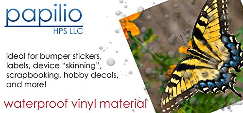 Bumper Inkjet Stickers (Papilio Inkjet White Vinyl Decal Paper 10 Sheets)