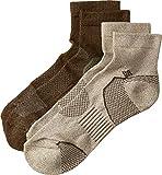 Columbia Men's Balance Point¿ Walking - Quarter 2-Pack Khaki/Brown 10-13 (Shoe Size 6-12 US Men's)