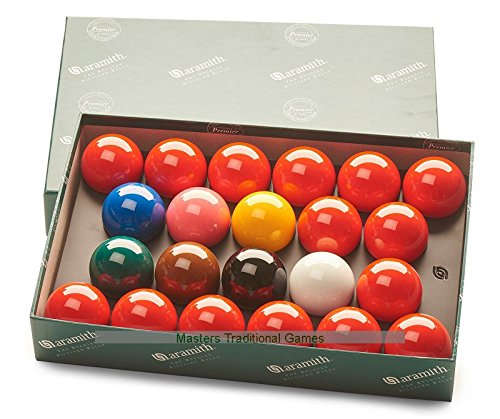 Aramith Standard Full-size Snooker Balls (2 and 1/16 inch)