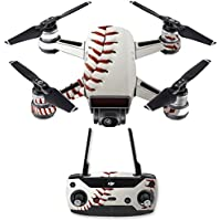 Skin for DJI Spark Mini Drone Combo - Baseball| MightySkins Protective, Durable, and Unique Vinyl Decal wrap cover | Easy To Apply, Remove, and Change Styles | Made in the USA