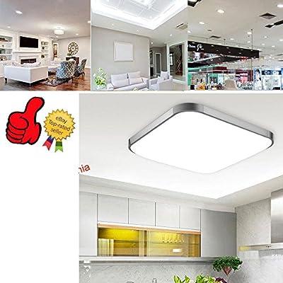 LED Ceiling Light, Natrual White, 28W Incandescent Bulbs Equivalent, Square Flush Mount Lighting, Ceiling Dwon lighting for Kitchen Bathroom Dining Room