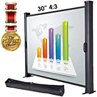 "Koval Inc. 30 4:3, 50"" 16:9, 50"" 4:3 Portable Table Top Projector Screen (30 4:3)"