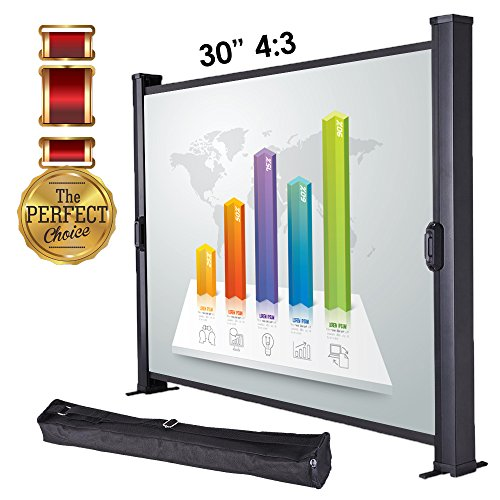 "Koval Inc. 30'' 4:3, 50"" 16:9, 50"" 4:3 Portable Table Top Projector Screen (30'' 4:3) by KOVAL INC."