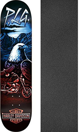 商業のベーリング海峡あごDarkstarスケートボードpierre-luc Gagnon Harley Davidson Vintage Fadeスケートボードデッキresin-7 – 8.125 X 31.8 CMでブラックマジックGriptape – 2アイテムのバンドル
