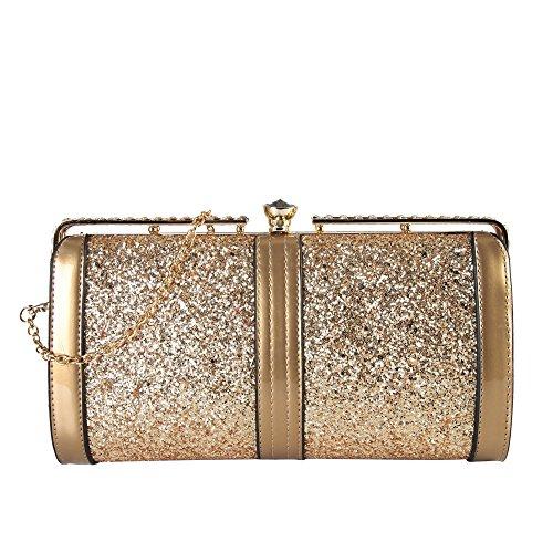 rimen-co-womens-shiny-sequin-clutch-handbag-lp3284-gold
