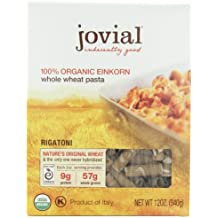 Jovial Organic Whole Grain Einkorn Rigatoni, 12-Ounce Packages (Pack of 6)