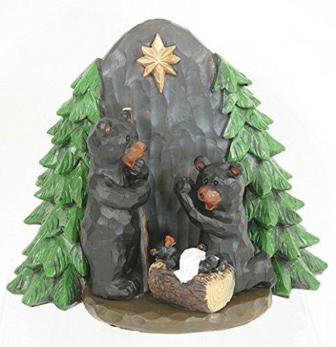 8 Inch Pine Trees - Fir Pine Trees Black Bear Nativity Set Figurine 8