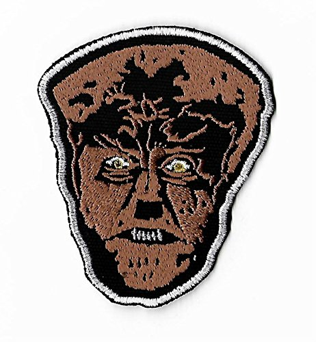The Wolf Man Patch (3.5 Inch) DIY Embroidered Iron / Sew on Badge Applique Lon Chaney Jr Horror Movie Souvenir Costume Universal Monster