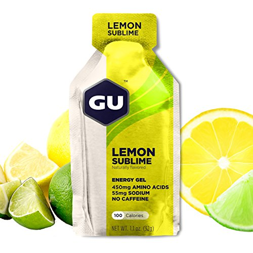 GU Energy Original Sports Nutrition Energy Gel, 24-Count, Lemon Sublime