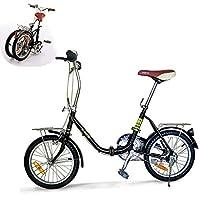 K-ROCK Bicicleta Plegable R16 Ligera Retro Estilo Vintage Rin 16 Pulgadas Color Negro
