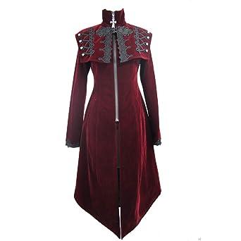 9c639f6fd55dbc Devil Fashion Frauen Winter Gothic viktorianischen Barock Long Coat Frauen  Steampunk Vintage Style Jacke: Amazon.de: Bekleidung