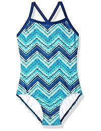 Kanu Surf Kirsten Chevron Beach Sport Banded Traje de baño de una Pieza para niñas