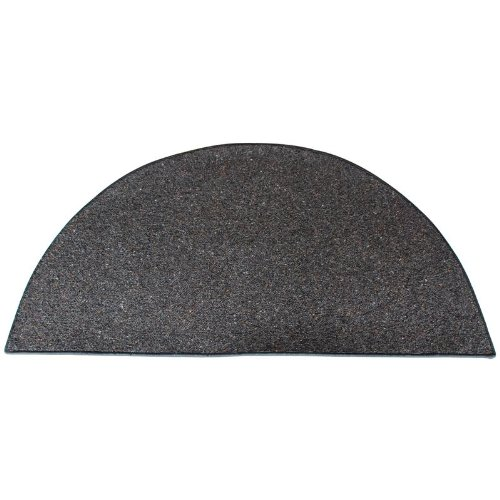 Andiron 4' Half Round Black Wool Fireplace Rug (Fireplace Carpet compare prices)