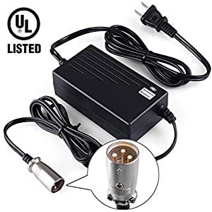 51h4ZzP17nL._SY300_ amazon com lotfancy 36v 1 5a scooter battery charger for gt  at virtualis.co