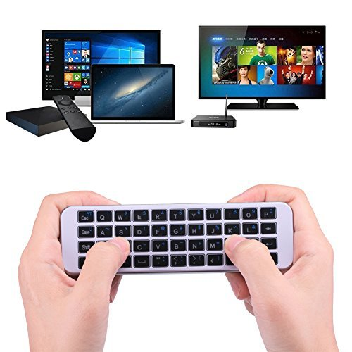 (Updated with Backlit) iPazzPort Bluetooth Keyboard Mini Wireless Keyboard LED Backlit Handheld Remote for PC, Smart TV,Android Box, KP-810-30BL by iPazzPort (Image #3)