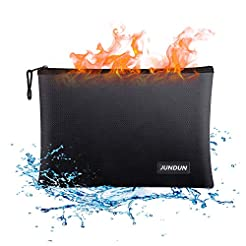 JUNDUN Fireproof Document Bags,13.4