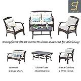 Patio Sofa Outdoor Sectional Furniture Set | Patio, Backyard