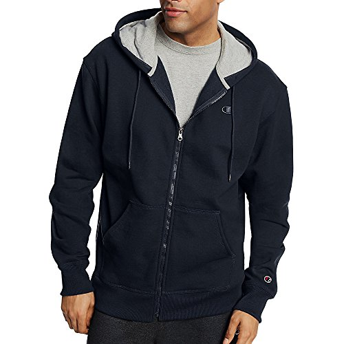 Champion Men's Powerblend Fleece Full Zip Jacket_Navy_L ()