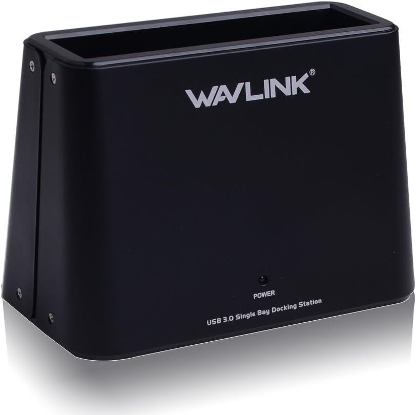 WAVLINK - Base de conexión para Disco Duro Externo (USB 3.0 a SATA, para Discos Duros de 2,5 o 3,5 Pulgadas, SSD)