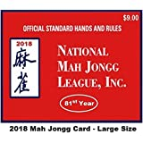 National Mah Jongg League 2018 Large Size Scorecard
