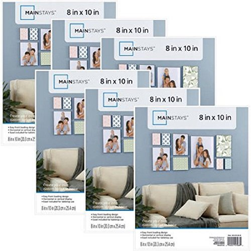 Simple Yet Elegant Gallery-Style Mainstays 8x10 Picture Frames, Set of 6 (White)