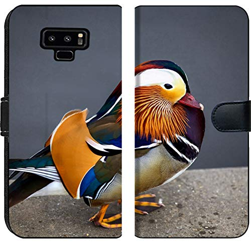 Samsung Galaxy Note 9 Flip Fabric Wallet Case Image ID 33115719 Colorful Mandarin Duck which is a Protected Species from North East A