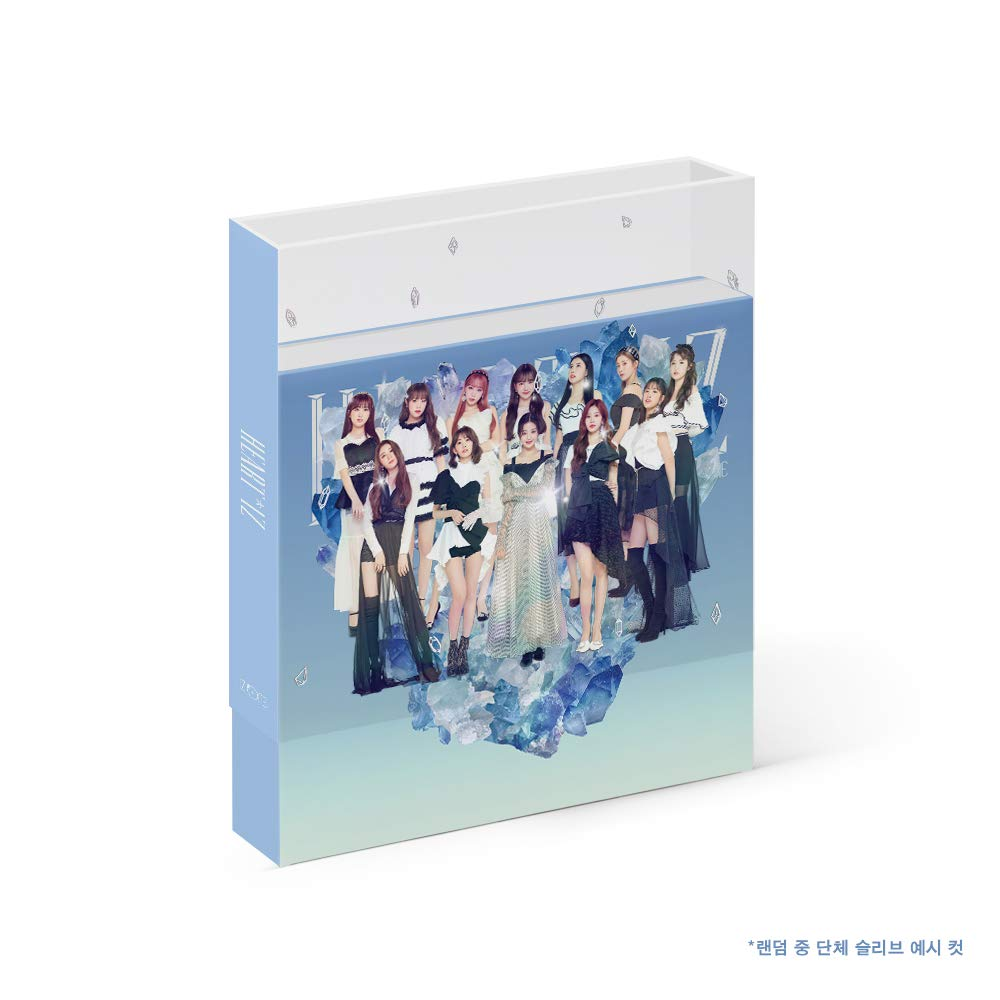 Off The Record IZONE IZONE - HEARTIZ [Sapphire ver.] (2nd Mini Album) 1CD+106p Photobook+Clear Sleeve+Mini Photobook+2Photocards+Pop-up Card+Folded Poster+Double Side Extra Photocards Set by Off The Record (Image #1)