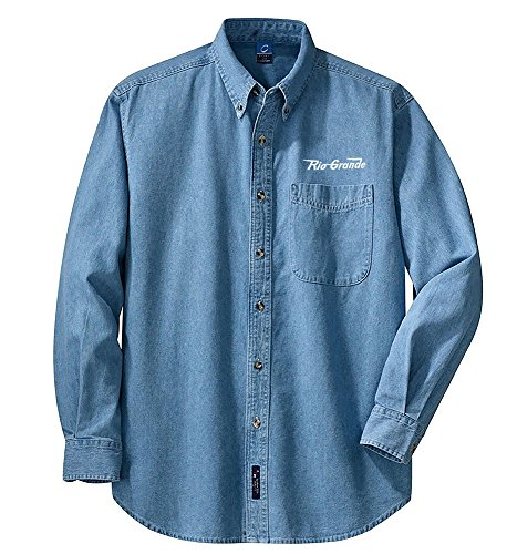 - Rio Grande Speed Lettering Long Sleeve Embroidered Denim Adult M [den11LS]