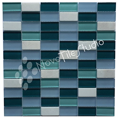 Box 10 Tiles Marble & Glass Mosaic Tile 12