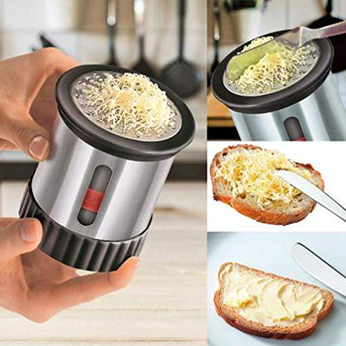 Spinning Cheese Grater,LtrottedJ Stainless Steel Butter Mill Grater Wire Cheese Cutter Slicer Chocolate Grater by LtrottedJ