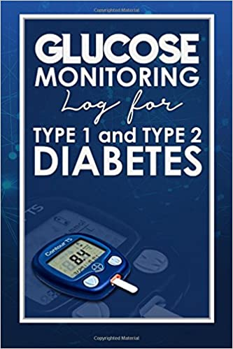 glucose monitoring log for type 1 and type 2 diabetes blood