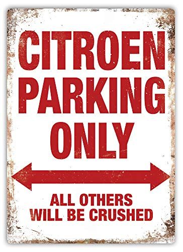 Citroen Parking Only Metal Wall Sign Plaque Art Ds for sale  Delivered anywhere in Canada