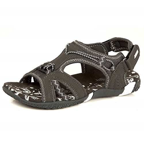 katt_brand Ladies Sports Sandals Womens Summer Light Weight Shoes Grey EkvMLwU