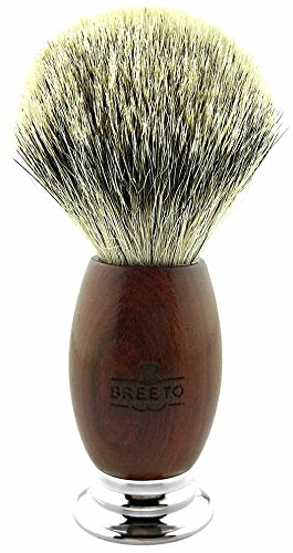 Breeto 100% Silvertip Badger Shaving Brush with Handcrafted Algum Handle by Breeto