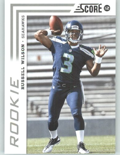 2012 Score Football Card #372 Russell Wilson RC - Seattle Seahawks (RC - Rookie Card)(NFL Trading Card) 2012 Score Football Card