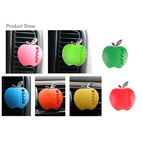 Wotefusi Car New One Piece Interior Air Fresheners Decorative Solid Perfume Apple Style Red Color Strawberry