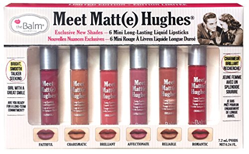 theBalm Meet Matt(e) Hughes Set of 6 Mini Long-Lasting Liquid Lipsticks