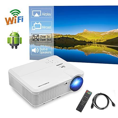 LED Wireless WiFi Home Theater Projector HD WXGA 200