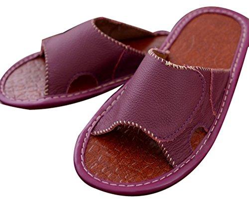 Pantofole Donna Pantofola Da Donna Di Blubi Da Donna Estate Laterali In Morbida Cachemire Viola