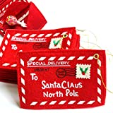 DAN SPEED 20 Packs Merry Bags Santa Claus Money Card Candy Holders for Child Envelopes Pockets Ornament Decor