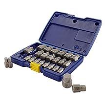 IRWIN HANSON Hex Head Multi-Spline Screw Extractor Set, 25 Piece, 53227