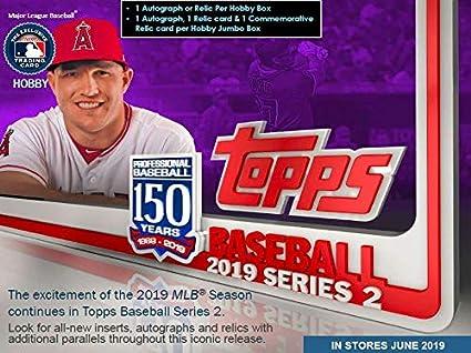 2019 Topps Series 2 Baseball Jumbo Box 2 Silver Packs 10 Packs46 Cards