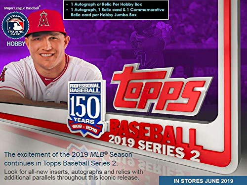 Topps Baseball Series - 2019 Topps Series 2 Baseball Jumbo Box 2 Silver Packs (10 Packs/46 Cards)