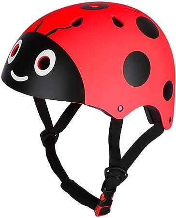 NIVNI Casco Bicicleta Niño, Los niños de montar casco protector lindo mariquita niño patinaje ciclismo bicicleta casco de seguridad de los niños ...