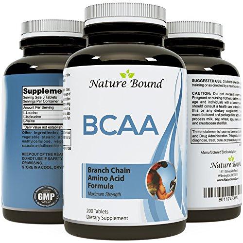 Meilleurs BCAA supplément - musculation étonnante + Pre Workout résultats - acides aminés à chaîne ramifiée pur - L-Leucine + comestible formule pour hommes et femmes - USA faite par Nature lié
