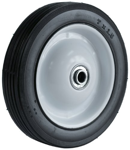 Martin Wheel 715-OF-R 7 by 1.50-Inch Light Duty Steel Wheel for Lawn Mower, 1/2-Inch Ball Bearing, 1-3/8-Inch Offset Hub, Rib Tread ()