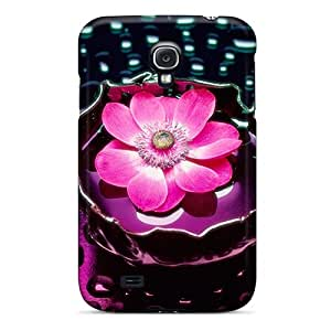 New Arrival Premium S4 Case Cover For Galaxy (petals And Water)