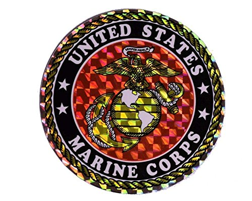 ALBATROS (6 Pack) USMC Marines Marine Corps EGA Circle Flag Decal Bumper Sticker for Home and Parades, Official Party, All Weather Indoors Outdoors